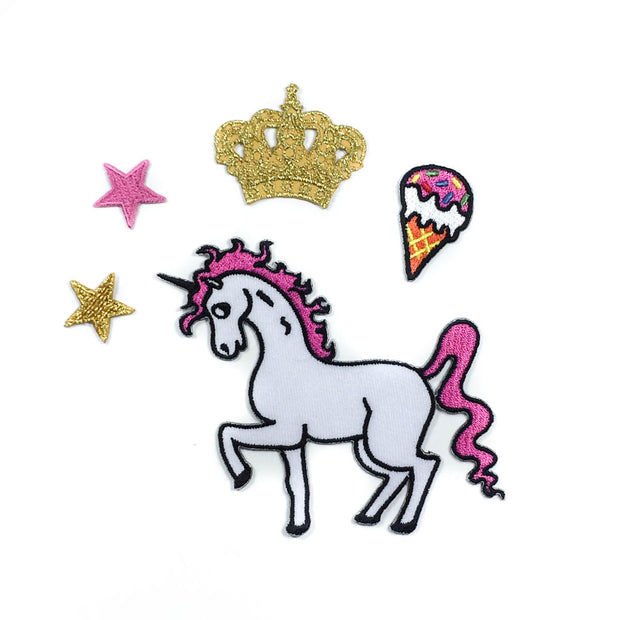 Unicorn set iron-on patch