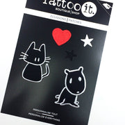 cat and dog iron-on patch