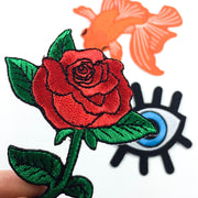 red rose patch set