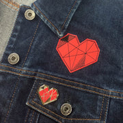 Red Geometric Heart (Sticker Patch)
