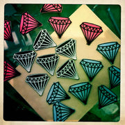 Mini Rockabilly Diamond Patch