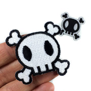 skull iron-on patch