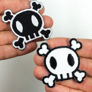 Rockabilly Skull Patch - Choose color & size