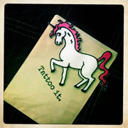 Pink or blue Rockabilly Unicorn Patch