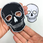 No Eyes Skull Patches (Set of 2)
