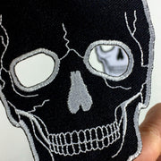 No Eyes Skull Patch - Black or White