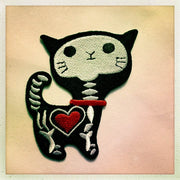 cat iron-on patch