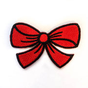 red bow embroidery