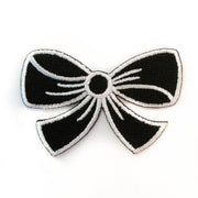black bow embroidery