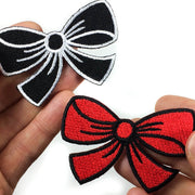 Rockabilly bow iron-on patch