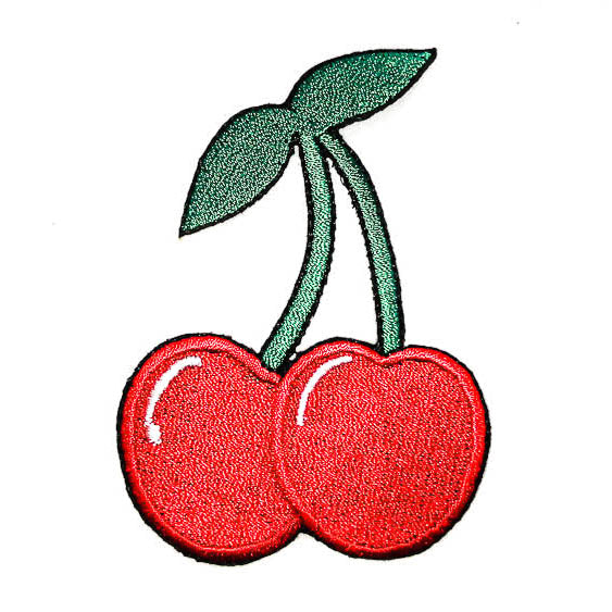 cherry iron-on patch