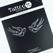 Mini Swallow Bird Patches (Set of 2)