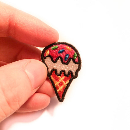 Mini Ice Cream Cone Patch