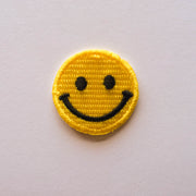 yellow smiley patch