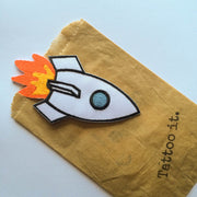 space shuttle iron-on patch