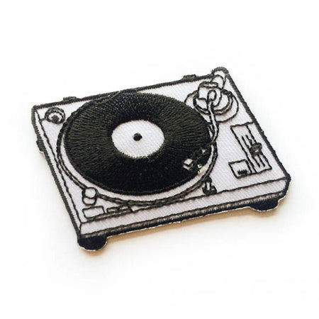 turntable iron-on patch