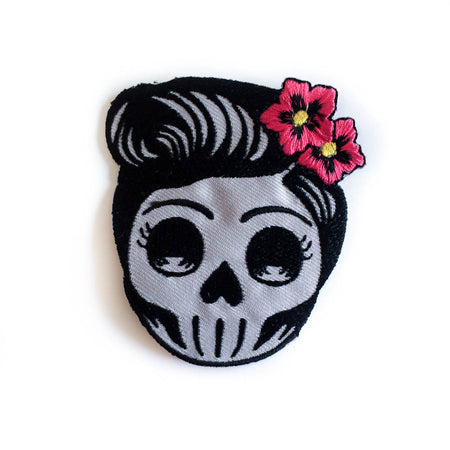Miss Rockabilly Skull Patch