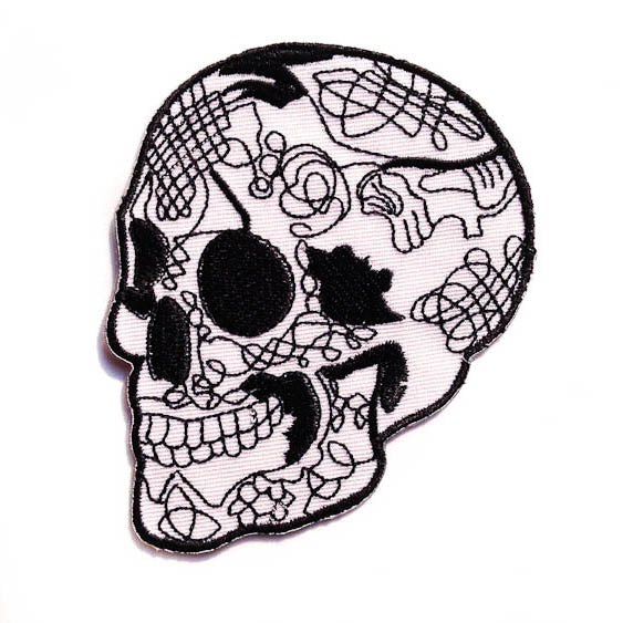 Day Of The Dead Skull Patch Tattoo It