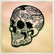 Day of the dead Skull Patch