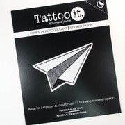 Geometric Airplane (Sticker Patch)