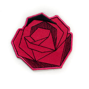 Geometric red rose