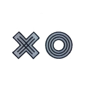 Reflective Stickers - Mini XO (set of 6)