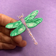 Dragonfly Patch - Embroidery Sticker