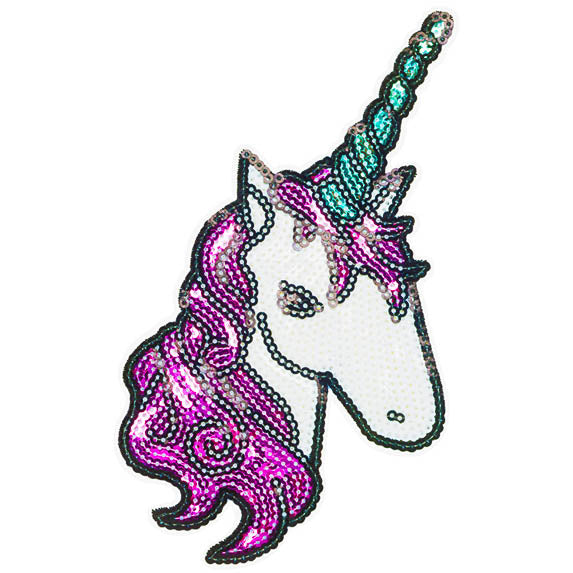unicorn glitter patch