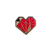 geometric heart pin