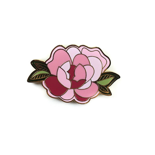 fb312cd4dca Pink Peony Enamel Pin – Tattoo it - Patches & Pins