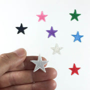little stars iron-on patches