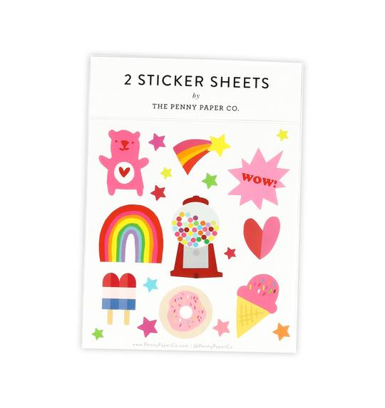 RETRO SWEET, STICKER SHEET SET