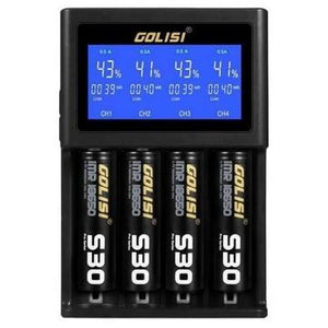 Golisi S4 2.0A Smart Charger with LCD Screen - The Vapour King