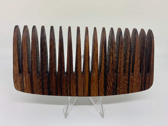 Zebra Wood Comb by Bells Custom Woodworking