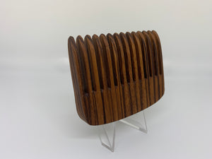 Exclusive Zebra Wood Pocket Comb by Bells Custom Woodworking