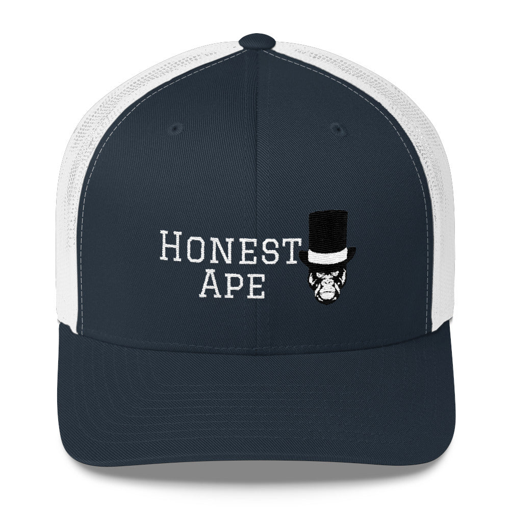Honest Ape Hat - Trucker (White Script)