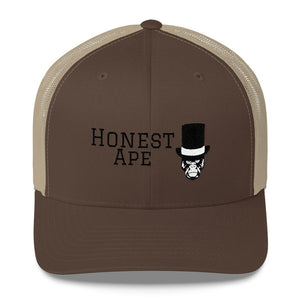 Honest Ape Hat - Trucker (Black Script)