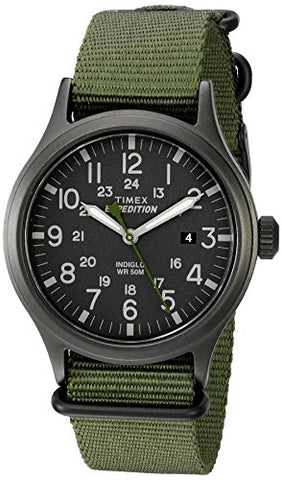 Timex Men's TW4B04700 Expedition Scout Green Nylon Slip-Thru Strap Watch