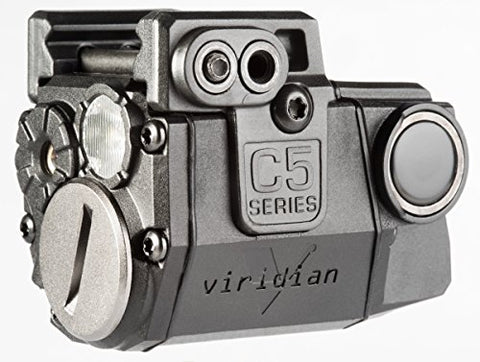 Viridian C5L Universal Green Laser Sight and Tac Light for Sub-Compact Handgun Pistols, ECR Instant On Technology