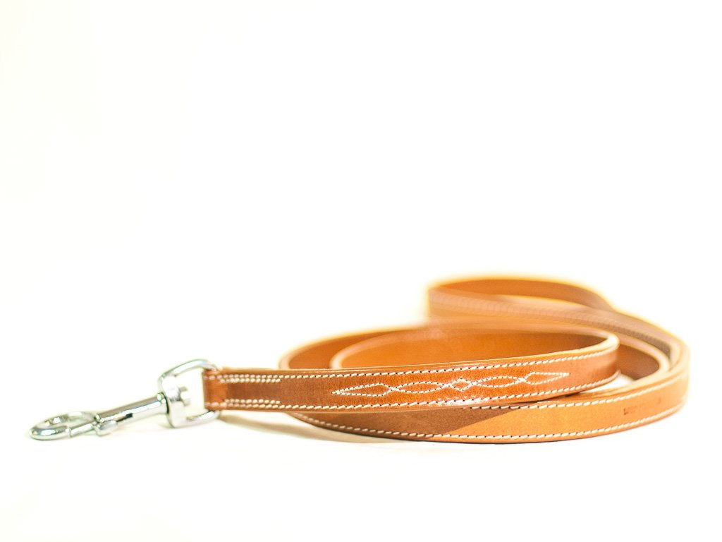 CHEVALIER lightbrown leather lead