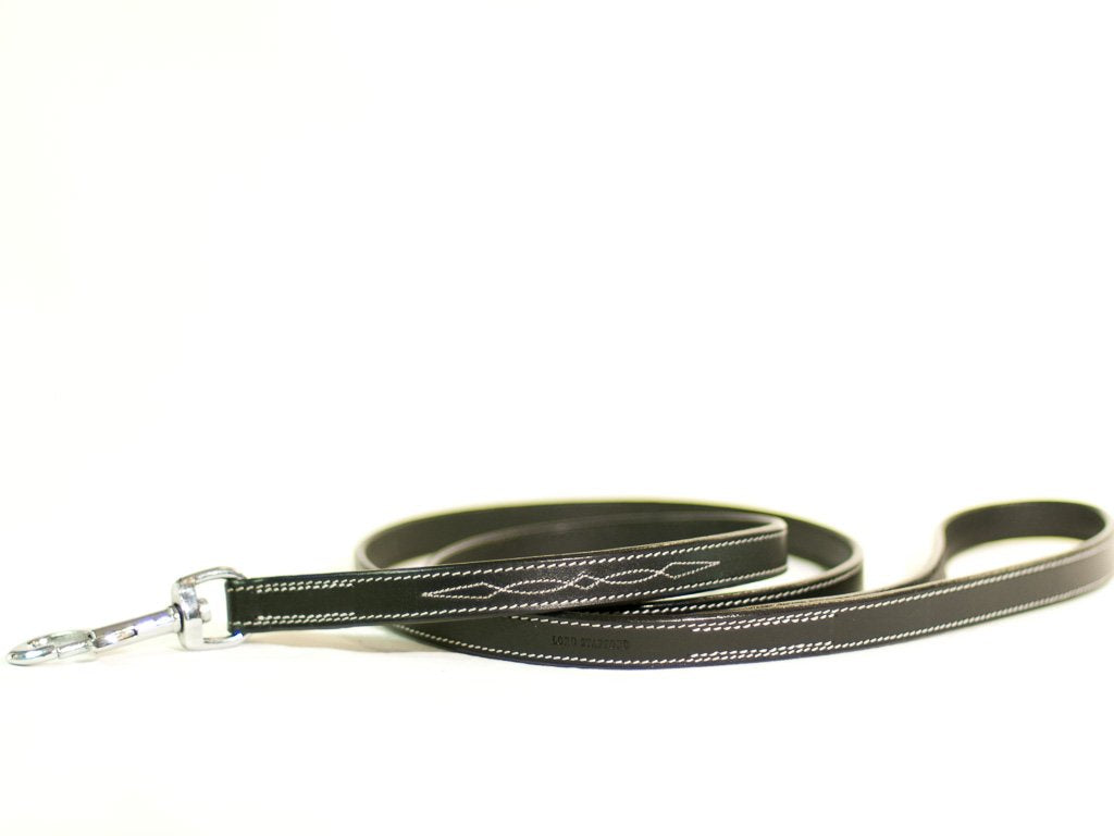 CHEVALIER black leather lead