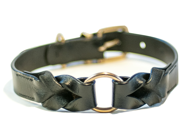 BRAID black dog collar