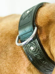 BRILLIANCE black wide dog collar