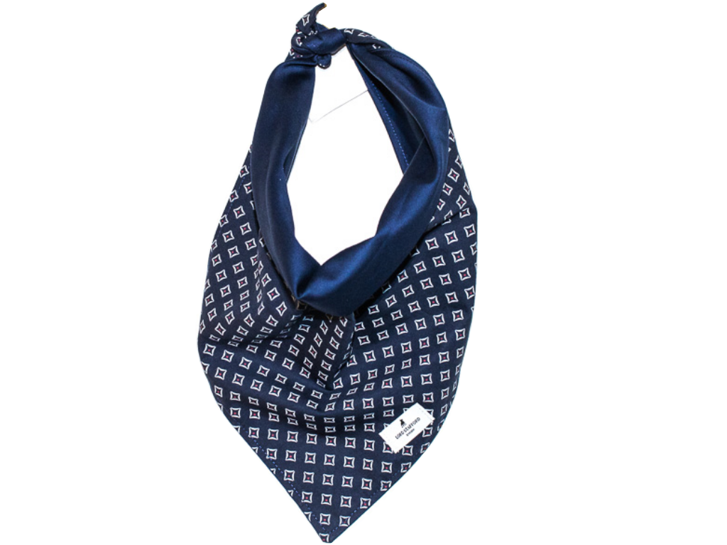 MARINE luxury cat scarf