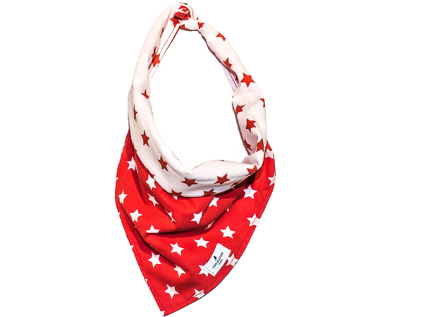 STAR red scarf for dog