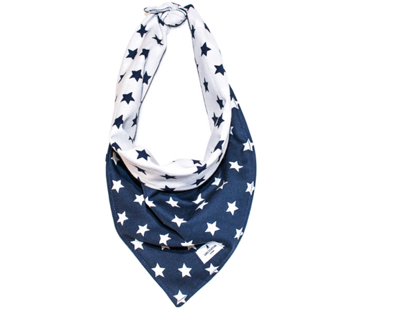 STAR dark blue scarf for cat