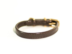 CLASSIC brown cat collar