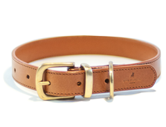 CLASSIC light brown dog collar