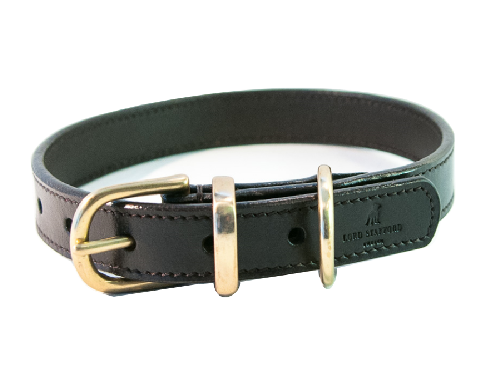 CLASSIC black dog collar