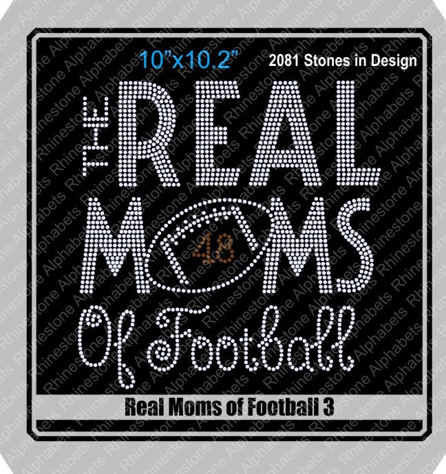 Real Moms of Football 3 ,TTF Rhinestone Fonts & Rhinestone Designs